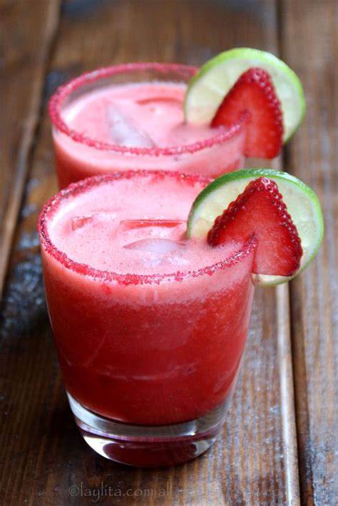 Handmade Margarita - strawberry margarita recipe cocktails and honey