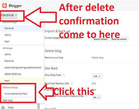 blogger delete blog how to delete your blogger blog permanently appreviews