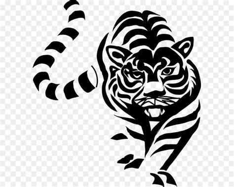 gambar harimau hitam putih  rino gambar
