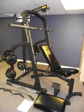 350 nautilus home nt907 bench and weights for sale