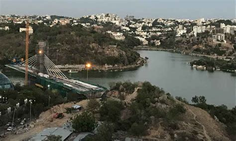 durgam cheruvu cable bridge works gain pace