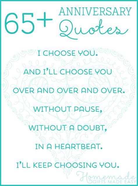 65  Wedding Anniversary Quotes