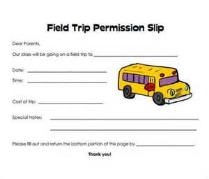 Permission slip templates amp field trip forms