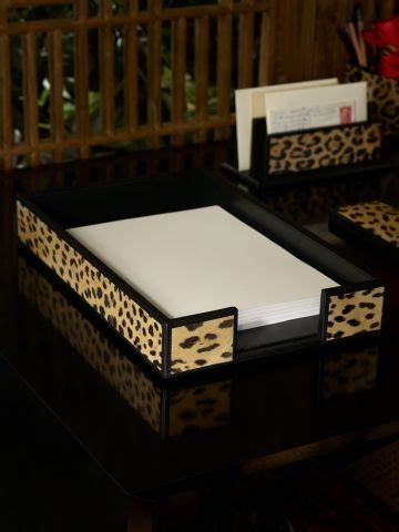 1000 Images About Black Watch And Leopard Bedroom On Leopard Desk Accessories