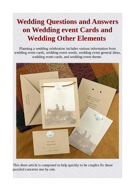 Wedding Questions by Wedding Questions And Answers On Wedding Event Cards And