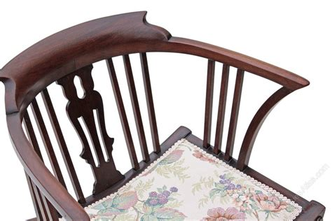 antique victorian low mahogany tub corner chair armchair victorian mahogany x frame corner chair tub side