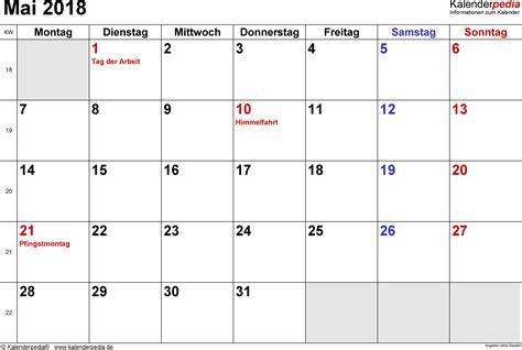 Mai 2018 Kalender Kalender Mai 2018 Als Pdf Vorlagen