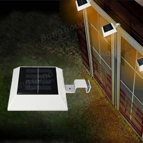 Gutter Solar Lights Solar Powered 4 Led Fence Gutter Light Outdoor Yard Wall
