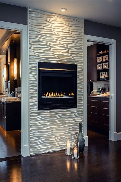 tile fireplace wall fireplace