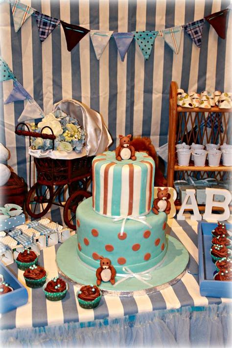 Teddy Baby Shower Theme by Teddy Baby Shower Blue And Brown