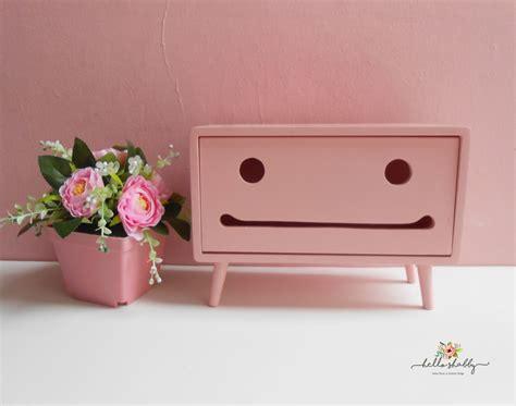 Tissue Box Macaron Tedd Shabby Pink Hello Shabby
