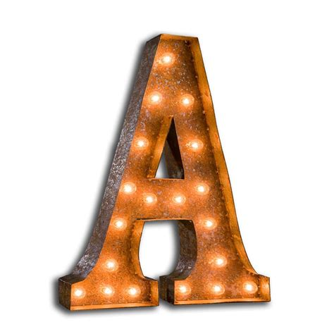 vintage letter lights letter a live like the boy