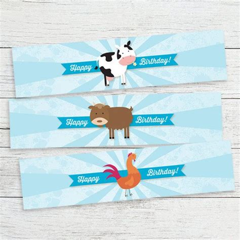 Free Printable Farm Party Labels 9 best images of farm printable labels free printable