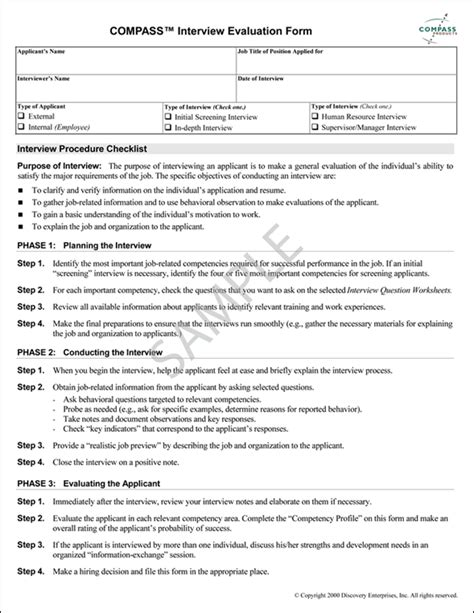 Sample Resume For Working Students by Job Interview Evaluation Form Greatbiztools