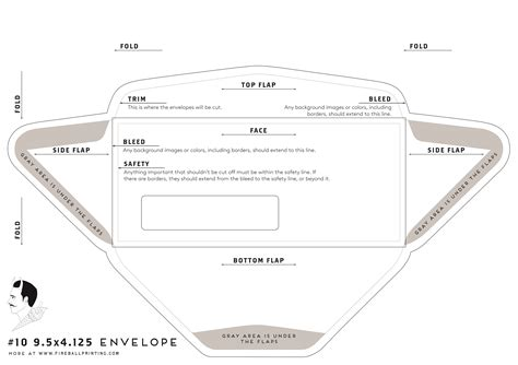 Resource Templates 171 Fireball Printing 10 Window Envelope Template