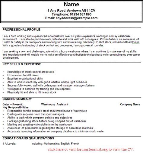 Resume Example: Warehouse Worker Resume Skills Warehouse