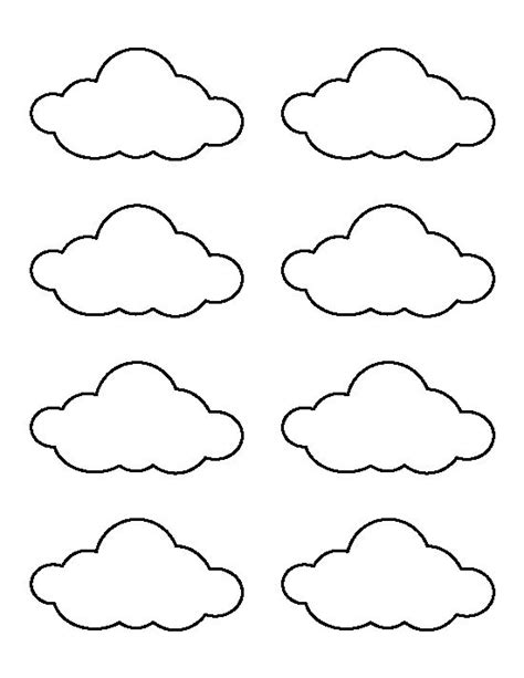 small cloud pattern   printable outline  crafts