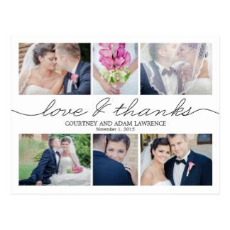 when to send wedding thank you cards thank you postcards zazzle