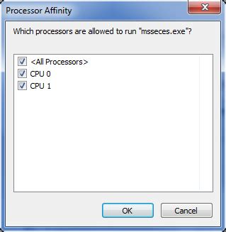 change the processor affinity setting in windows 7 to gain