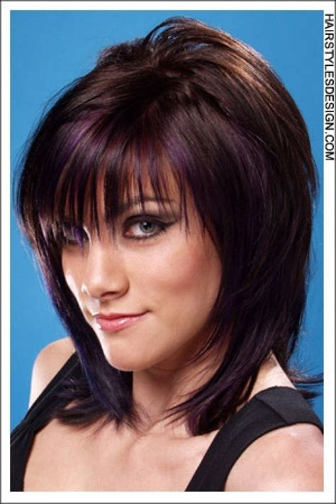 medium haircuts with bangs and chunky color 1000 images about hairstyles on pinterest for women