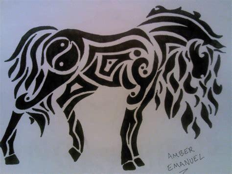 tribal tattoo horse tribal drawing tea towels in 2019