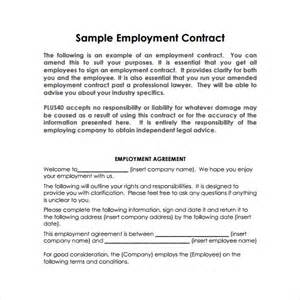 employment contract template pdf sle basic contract template 13 free sle exle