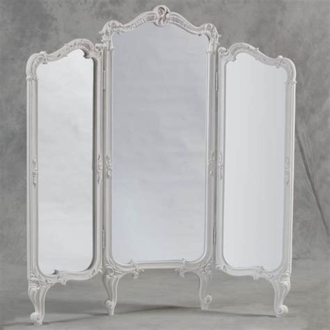 Dressing Screen Room Divider Shabby Chic 3 Fold Dressing Mirror Room Divider Screen Antique Dressing Mirror