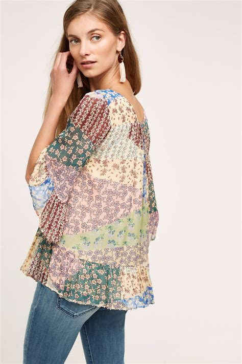 Patchwork Top - patchwork peasant top anthropologie