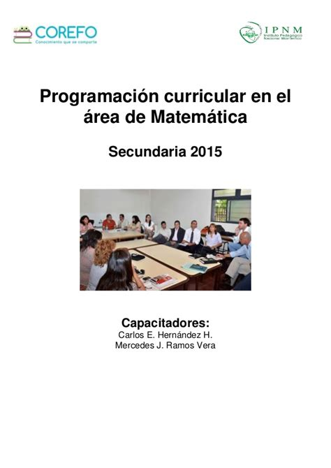 programacion curricular de matematica secundaria 2016 programaci 211 n curricular matem 193 tica secundaria