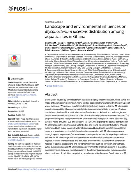 (PDF) Landscape and environmental influences on