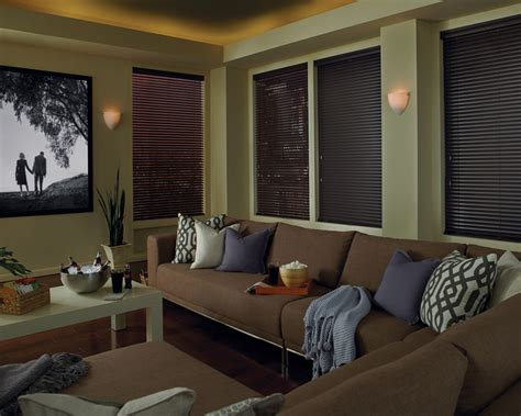 home theater window coverings blackout window treatments contemporary home theater