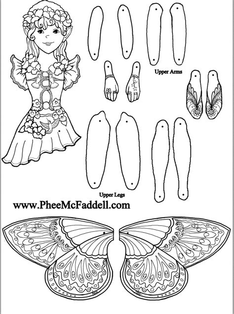 fairy puppet alexis to color at www pheemcfaddell com