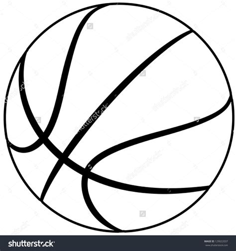 basketball clipart vector basketball lines clipart 76