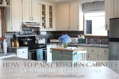 paint kitchen cabinets diy how to paint kitchen cabinets a step by step guide confessions of a serial do it yourselfer