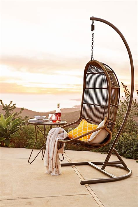 willow swingasan light brown hanging chair the