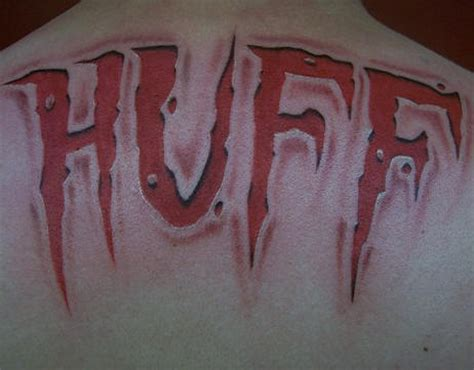 tattoo 3d lettering 3d text tattoo on back tattooimages biz