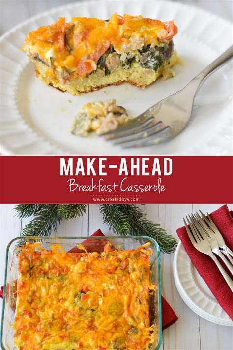 day 11 make ahead breakfast casserole created by v