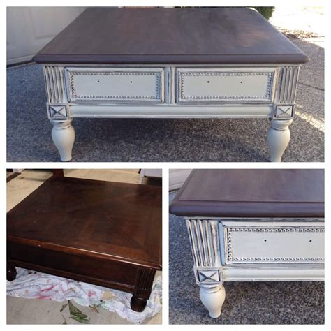 chalk paint coffee table chalk painted sloan coffee table home decor