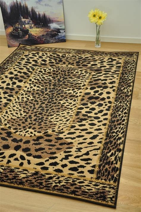 leopard print area rugs cheap small large animal
