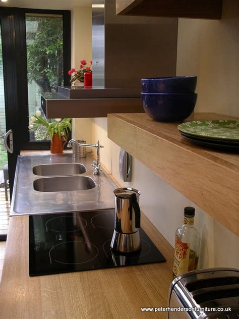 oak and french grey kitchen bespoke design by peter cabinet makers bespoke handmade kitchen furniture makers