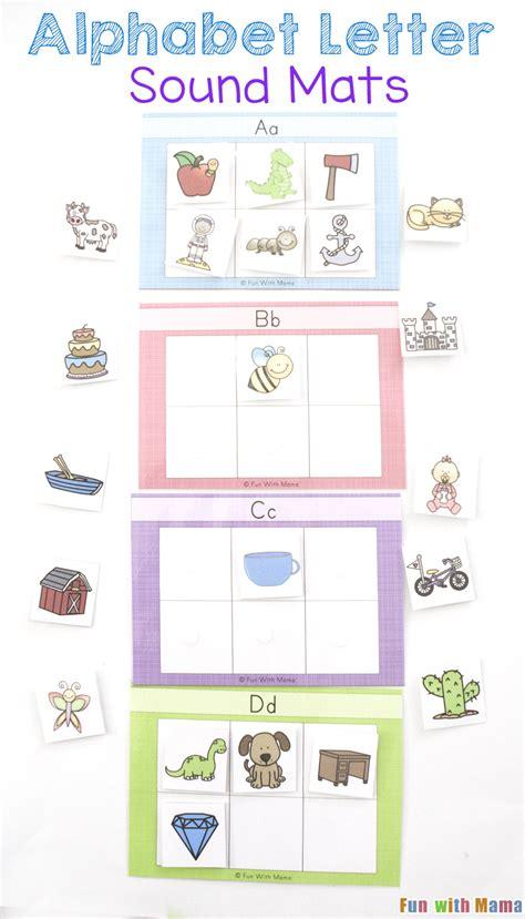 Letter Voice alphabet letter sound mats with