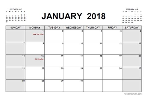 Printable Calendar With Holidays And Lines 2018 Printable Calendar Pdf Free Printable Templates