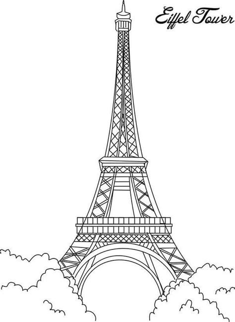 eiffel tower coloring book page coloring pages printable eiffel tower coloring pages for