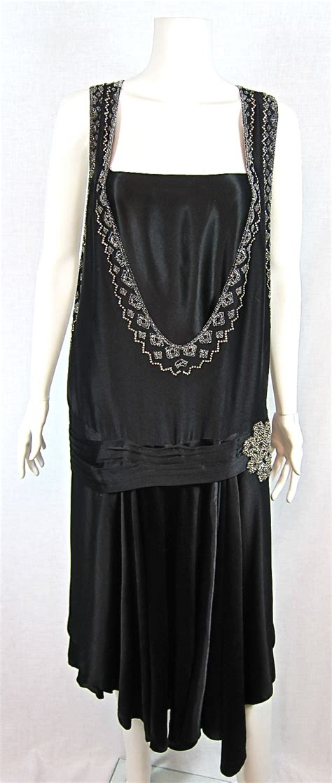 vintage beaded dresses for sale 1920s satin rhinestone beaded flapper dress for sale