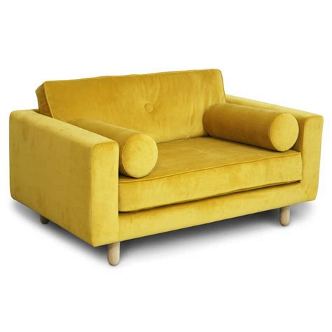 velvet loveseat avenue loveseat fabric seven 23 yellow velvet living and co