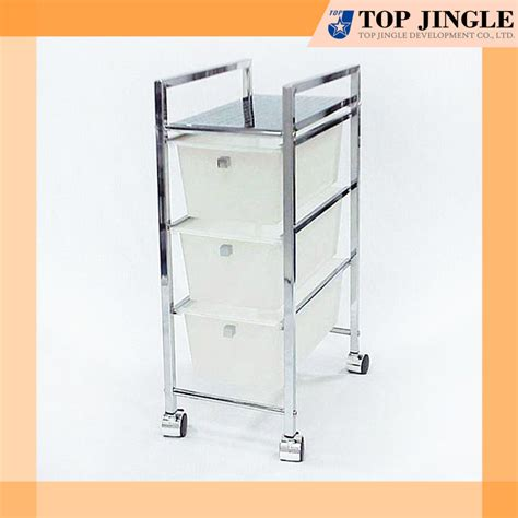 rectangle plastic 3 tiered drawer storage cart buy