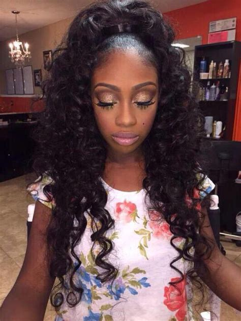 hair weave styles 2013 no edges half up half down achieve this look with mayvenn s
