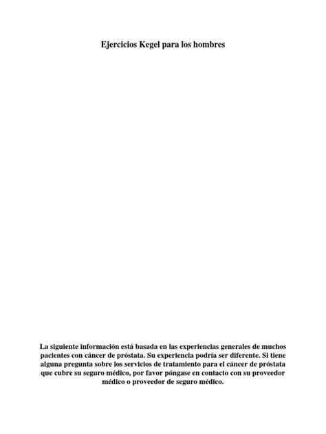 Kegel Exercises Spanish | Urinary Bladder | Prostate