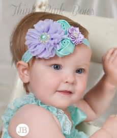 headband for babies lavender and aqua baby headband baby headbands headbands newborn headband flower baby