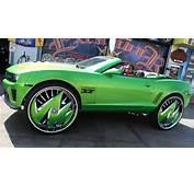 Green Camaro Sits On Massive 32 Inch Rims